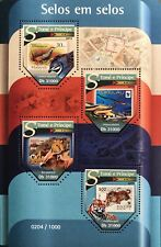 SAO TOME WWF WILD ANIMALS SHAPED STAMPS SHEET 2015 MNH ST THOMAS TIGER BIRD COW