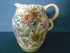 VINTAGE ART DECO TWIN HANDLED HAND PAINTED POTTERY JUG 19cm High