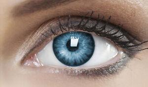 Farbige Blau Kontaktlinsen Karneval Fasching Halloween - GLOSSY SKY - PLANO
