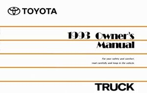1993 Toyota Truck Owners Manual User Guide Reference Operator Book Fuses Fluids