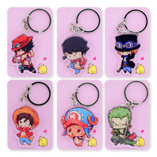 ONE PIECE ANIME CHARACTER KEYRING KEYCHAIN KEYFOB. NEW