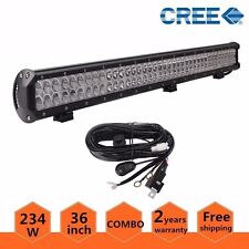 36in 234W CREE LED Light Bar Off-road Driving Combo Truck Lamp with Wire Harness