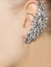 OUTSTANDING & DRAMATIC SINGLE EAR CLIP IN MARQUISE CUT RHINESTONES - LEFT EAR