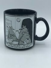 Far Side Coffee Mug Cup 1985 Vintage Cat's Away Serious Mice Gary Larson