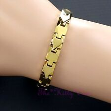 Magnetic Tungsten Powerful Arthritis CTS RSI Pain Slim 24K Gold PLT Bio Bracelet