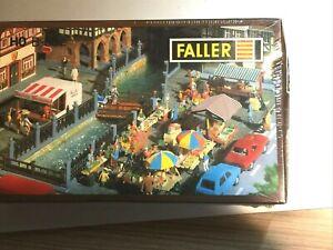 Faller B-582 HO Scale Market Building Kit NIB