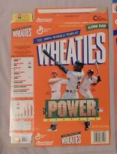 KEN GRIFFEY Jr MARK McGWIRE TINO MARTINEZ WHEATIES CEREAL BOX