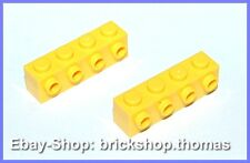 Lego 2 x Steine mit Noppen 1x4x1 gelb 30414 Basic Bricks Yellow - NEU / NEW