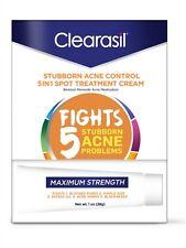Clearasil Stubborn Acne Control 5 in 1 Spot Treatment Cream, 1 oz