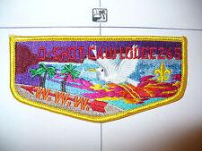OA O Shot Caw Lodge 265 S-25,1991,Chapter Award,YEL Bdr,South Florida Council,FL