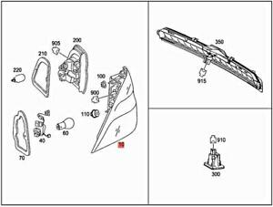 Genuine MERCEDES W166 GLE W166 M-CLASS Rear lamp combination 1669063301