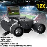 2'' 1080P LCD Binocular Zoom 12x32 HD Digital Camera Telescope Binoculars Video