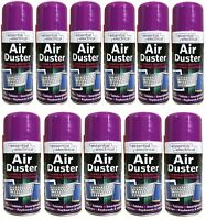 12 X 200 ML COMPRESSED AIR PRESSURE DUSTER SPRAY CAN CLEANS PROTECTS KEYBOARDS