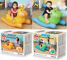 Bestway Inflatable Baby Animal Rocker Fun Toddler Ride on Toy (Colours may Vary)