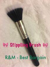 R&M 187 DUO FIBRE STIPPLING FOUNDATION BRUSH for Mineral Blush Foundation Powder
