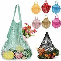 Ecology Reusable Organic Mesh Grocery Shopping Produce Bags Market String Bag Vi
