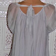 Locker sitzende Damenblusen, - tops & -shirts im Passform aus Seide ohne Muster