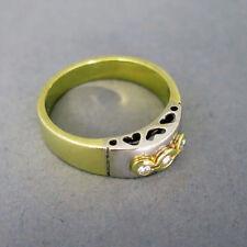 Gut geschliffene Echtschmuck-Ringe im Band-Stil aus mehrfarbigem Gold