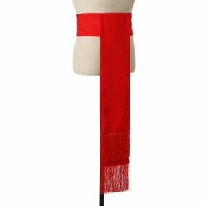 Clergy Cincture Red Band With Fringe For Soutane Roman Cassock Cincture Belt