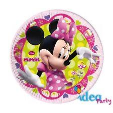 PIATTI MINNIE 19 cm addobbi tavola Disney Topolina festa compleanno bambina 8 pz