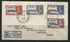 Somaliland KGV 1935 Silver Jubilee set on registered cover