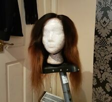 10A Handmade 100% brazilian Virgin ombre Human Hair wig 1B/30 with lace closure