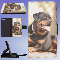ANIMAL DOG DOGS BLACK ROTTWEILER FLIP WALLET CASE FOR APPLE IPHONE PHONES