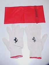 Ferrari Jack Tool Kit Gloves Pair_Case Bag 355 360 430 456 458 550 599 Red OE