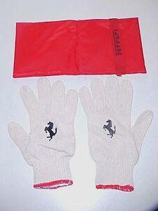 Ferrari Jack Tool Kit Gloves Pair_Case Bag 355 360 430 456 458 550 599 Red OE