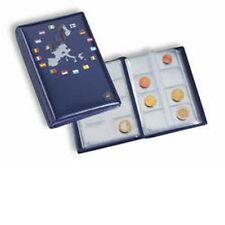 Lighthouse coin Wallet with 12 coin sheets for 12 complete Euro coin sets, blue
