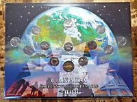 Canada 2000 Millennium Designs 13 Coin UNC BU Quarter & Knowledge Toonie Set!!