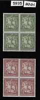 Full 1943 MNH stamp block set / Goldsmiths Society / WWII Germany / Third Reich