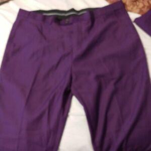 Mens purple suit 3 piece plus tie