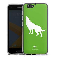 HTC One A9 s Silikon Hülle Case HandyHülle - Vfl Wolfsburg - Wolf grün