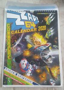 ZZAP! 64 COMMODORE C64 CALENDAR 2020 RETRO COMPUTER - NEW & UNUSED FUSION BOOKS