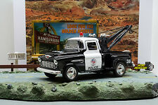 1:32 KINSMART 1955 CHEVY STEPSIDE POLICE TOW TRUCK Perfect for Diorama use