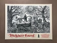 Witchfinder General Parchment Variant Screen Print by Sin Eater - NT Mondo