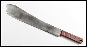 Vintage SHEFFIELD British MK2 military machete knife 1952 broad arrow NICE LOOK