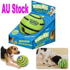 Wobble Wag Giggle Ball Dog Doggy Indoor Outdootr Pet Toy Rolling Shaken w Sound