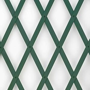1 x GREEN Expanding 6ft Wooden Trellis Garden Scissor Plant Climbing Fence Panel