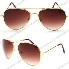 1a864e2572 Clásico Piloto Gafas de Sol Montura Metálica Lentes Efecto Espejo Uv400