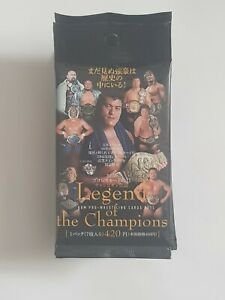 2011 BBM Pro-Wrestling Legend of the Champions Trading Card Packs