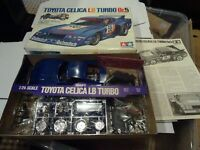 Tamiya Toyota Celica Lb Turbo Gr5 1:24 Motorised Plastic Model - Unmade