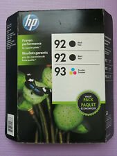 NEW HP Genuine Combo Value Pack 92 92 93 Black Tri Color Printer Ink Cartridge