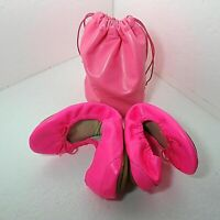 GAP Pink 7 Ballet City Flats with Bag Foldable Packable Shoes Casual Leather