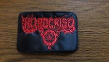 HYPOCRISY # 2,SEW ON RED EMBROIDERED PATCH