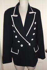 Criscione NY Lillie Rubin Embellished Bric Brac Tuxedo Blazer Jacket Womens M