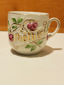 Vintage Cup / Coffee Mug Mother and Flowers Made in Germany