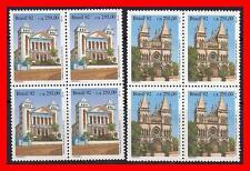 BRAZIL 1992 CHURCHES blocks of 4  MNH RELIGION ARCHITECTURE