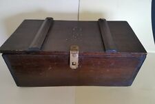 ANTIQUE PRIMITIVE WOOD BOX SPICE STORAGE, COUNTRY KITCHEN PANTRY